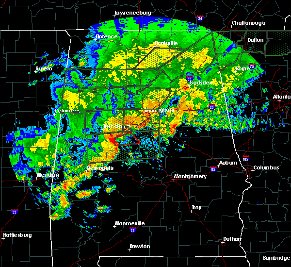 Radar Image for Severe Thunderstorms near Centreville, AL at 12/25/2015 7:07 PM CST