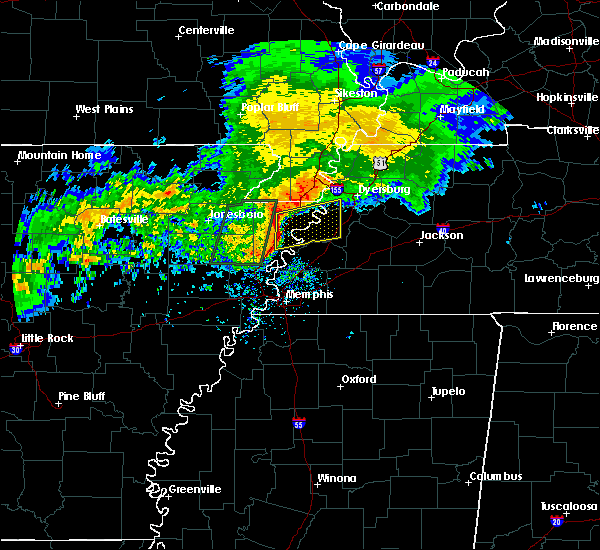 Radar Image for Severe Thunderstorms near Blytheville, AR at 12/26/2015 8:25 AM CST