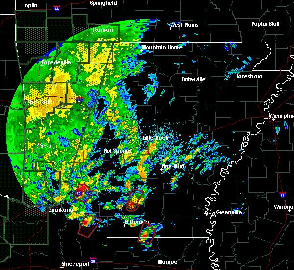 Radar Image for Severe Thunderstorms near Fordyce, AR at 12/27/2015 4:18 PM CST