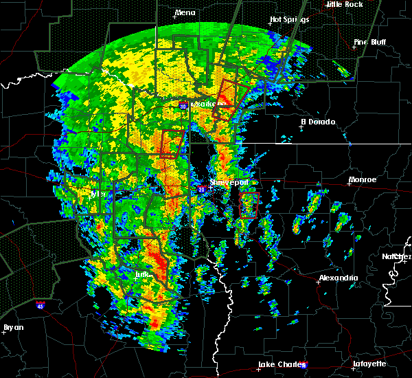 Radar Image for Severe Thunderstorms near Bradley, AR at 12/27/2015 7:35 PM CST