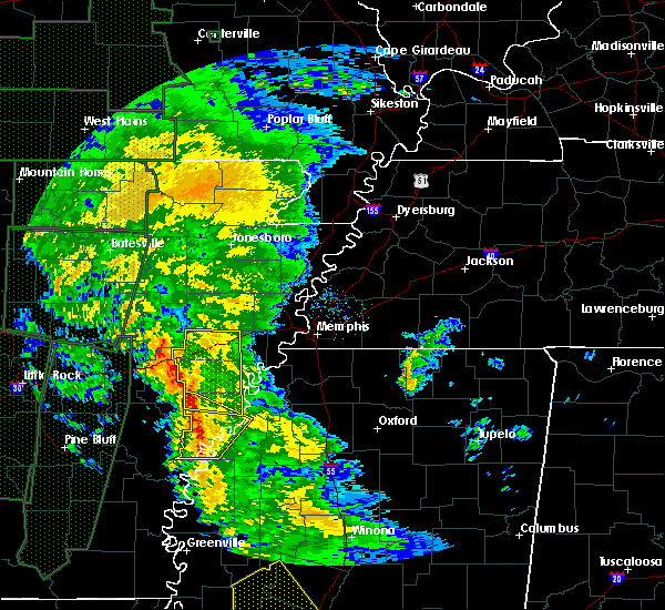 Radar Image for Severe Thunderstorms near Rondo, AR at 12/28/2015 4:42 AM CST