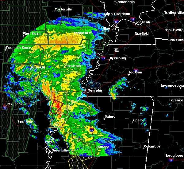 Radar Image for Severe Thunderstorms near Rondo, AR at 12/28/2015 5:00 AM CST