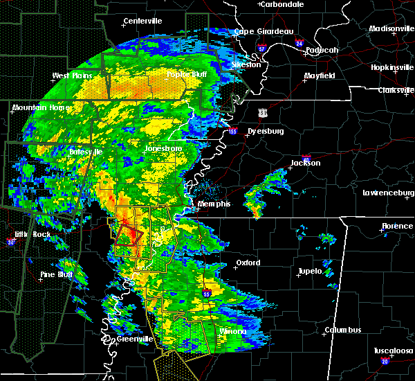 Radar Image for Severe Thunderstorms near Rondo, AR at 12/28/2015 5:07 AM CST
