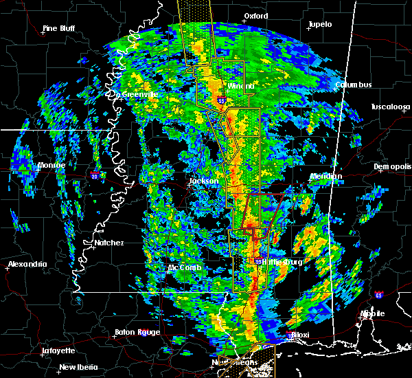 Radar Image for Severe Thunderstorms near Bay Springs, MS at 12/28/2015 6:09 AM CST