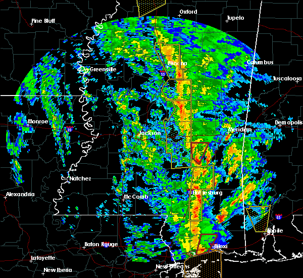 Radar Image for Severe Thunderstorms near Bay Springs, MS at 12/28/2015 6:36 AM CST