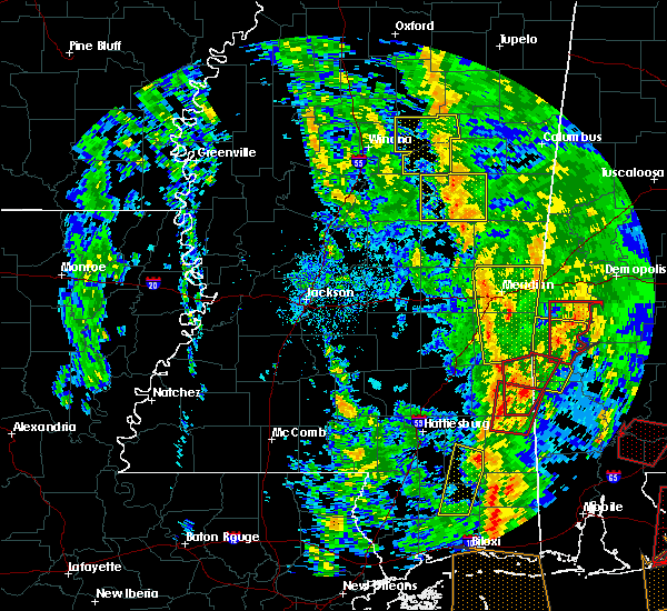 Radar Image for Severe Thunderstorms near Lauderdale, MS at 12/28/2015 7:36 AM CST
