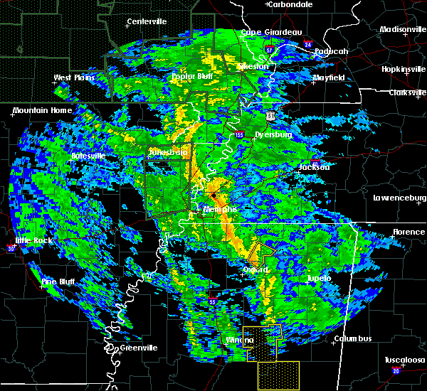 Radar Image for Severe Thunderstorms near Hickory Flat, MS at 12/28/2015 7:40 AM CST