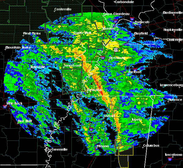 Radar Image for Severe Thunderstorms near Hickory Flat, MS at 12/28/2015 7:56 AM CST