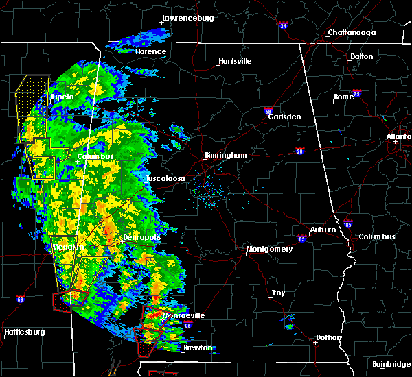 Radar Image for Severe Thunderstorms near Monroeville, AL at 12/28/2015 8:12 AM CST