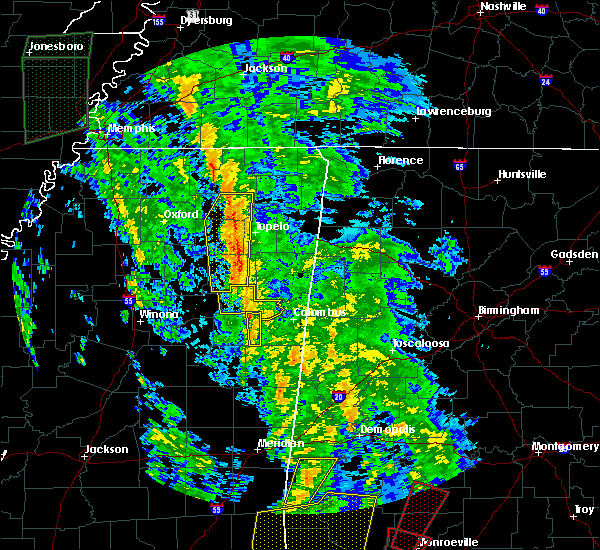 Radar Image for Severe Thunderstorms near Mississippi State, MS at 12/28/2015 8:29 AM CST