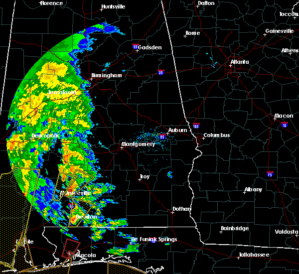 Radar Image for Severe Thunderstorms near Pine Apple, AL at 12/28/2015 9:07 AM CST