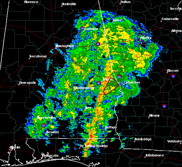 Radar Image for Severe Thunderstorms near Ladonia, AL at 12/28/2015 4:00 PM CST