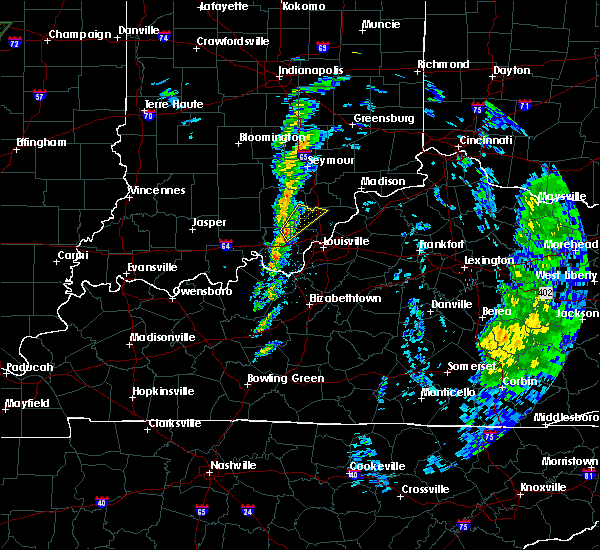 Radar Image for Severe Thunderstorms near Henryville, IN at 12/28/2015 6:52 PM EST