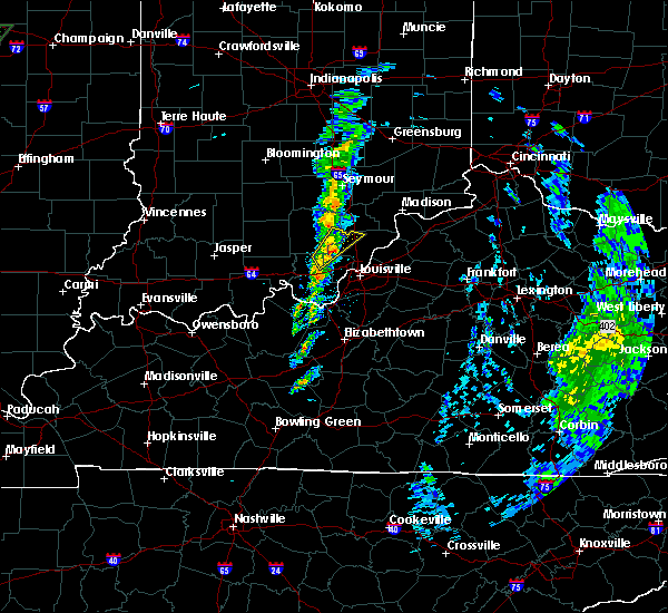 Radar Image for Severe Thunderstorms near Henryville, IN at 12/28/2015 7:00 PM EST