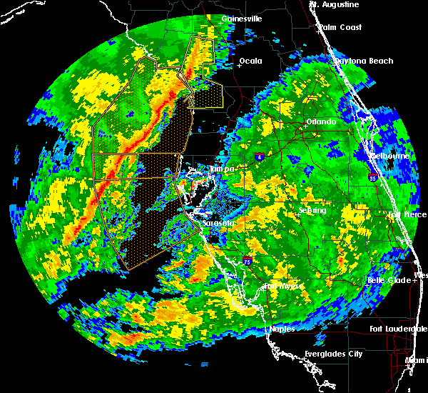 Radar Image for Severe Thunderstorms near Inglis, FL at 1/15/2016 8:41 AM EST