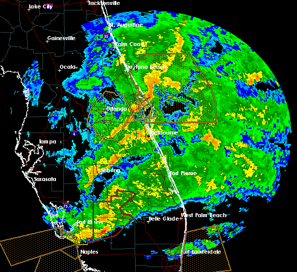 Radar Image for Severe Thunderstorms near Azalea Park, FL at 1/15/2016 11:56 AM EST