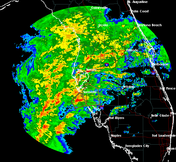 Radar Image for Severe Thunderstorms near Sarasota, FL at 1/17/2016 2:55 AM EST