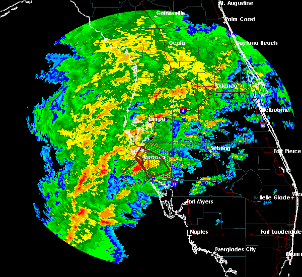 Radar Image for Severe Thunderstorms near Sarasota, FL at 1/17/2016 3:00 AM EST