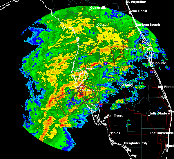Radar Image for Severe Thunderstorms near Sarasota, FL at 1/17/2016 3:10 AM EST