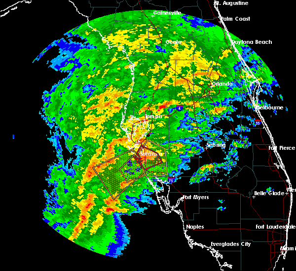 Radar Image for Severe Thunderstorms near Sarasota, FL at 1/17/2016 3:16 AM EST