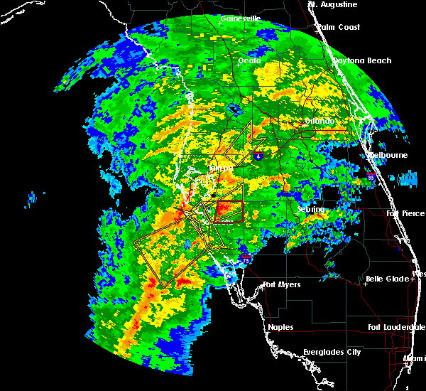 Radar Image for Severe Thunderstorms near Desoto Lakes, FL at 1/17/2016 3:37 AM EST
