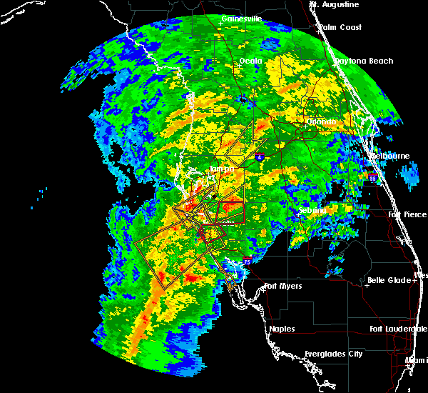 Radar Image for Severe Thunderstorms near Sarasota, FL at 1/17/2016 3:43 AM EST