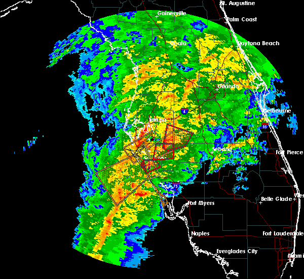 Radar Image for Severe Thunderstorms near Fort Green, FL at 1/17/2016 3:49 AM EST