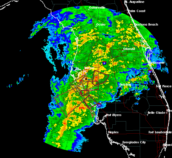 Radar Image for Severe Thunderstorms near Desoto Lakes, FL at 1/17/2016 3:52 AM EST