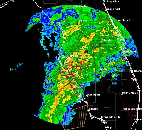 Radar Image for Severe Thunderstorms near Bartow, FL at 1/17/2016 3:58 AM EST