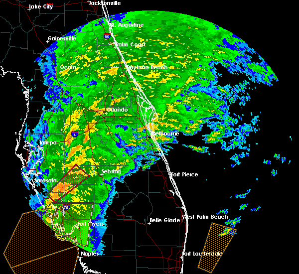 Radar Image for Severe Thunderstorms near Melbourne, FL at 1/17/2016 4:34 AM EST
