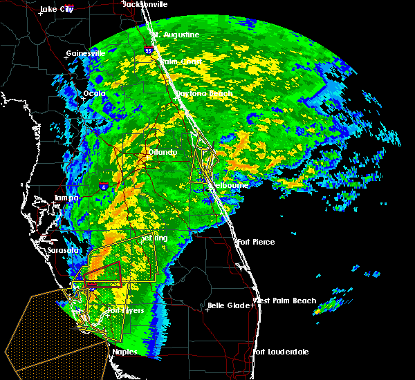 Radar Image for Severe Thunderstorms near Merritt Island, FL at 1/17/2016 4:49 AM EST
