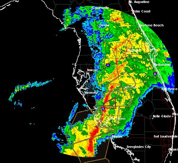 Radar Image for Severe Thunderstorms near Southeast Arcadia, FL at 1/17/2016 4:56 AM EST