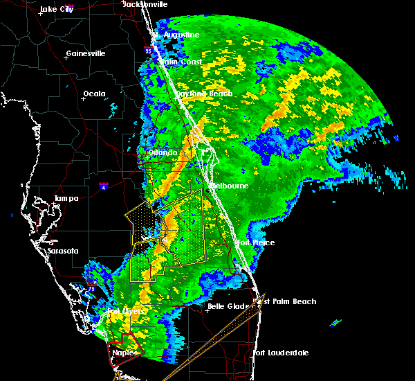 Radar Image for Severe Thunderstorms near Cocoa West, FL at 1/17/2016 5:44 AM EST
