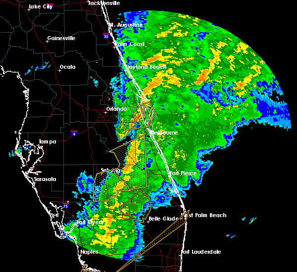 Radar Image for Severe Thunderstorms near Cocoa West, FL at 1/17/2016 6:00 AM EST