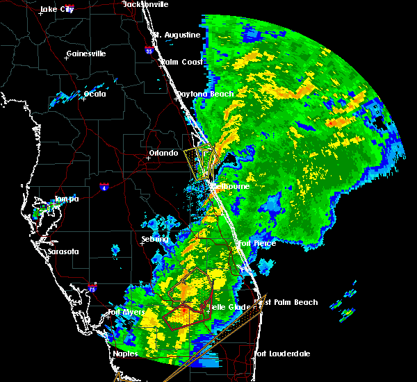 Radar Image for Severe Thunderstorms near Merritt Island, FL at 1/17/2016 6:23 AM EST