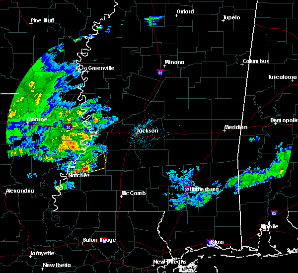 Radar Image for Severe Thunderstorms near Fayette, MS at 1/21/2016 8:14 AM CST