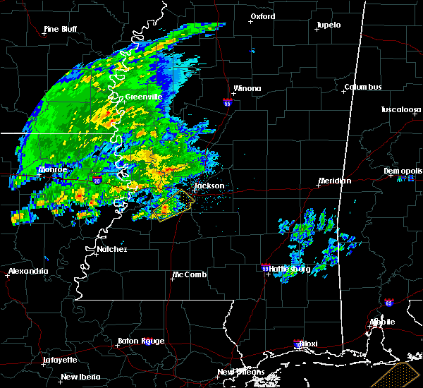 Radar Image for Severe Thunderstorms near Utica, MS at 1/21/2016 9:20 AM CST