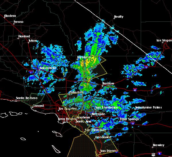 Hail Map For Ridgecrest, CA