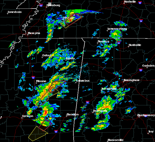 Radar Image for Severe Thunderstorms near Sturgis, MS at 2/2/2016 2:07 PM CST