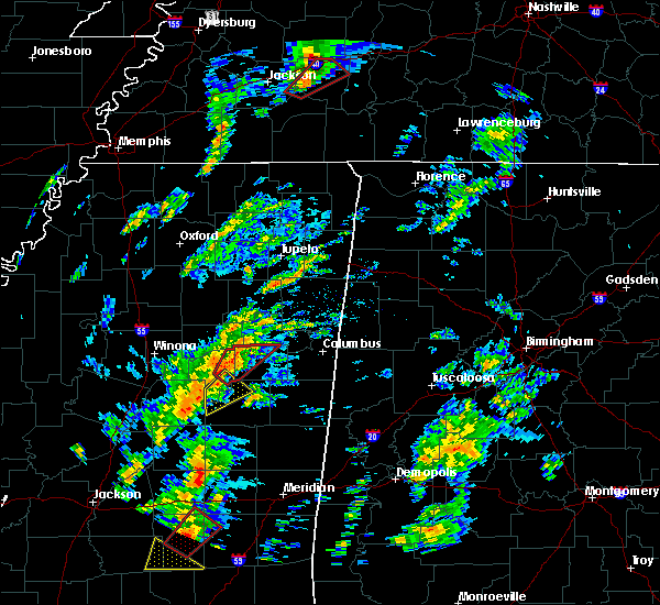Radar Image for Severe Thunderstorms near Sturgis, MS at 2/2/2016 2:18 PM CST