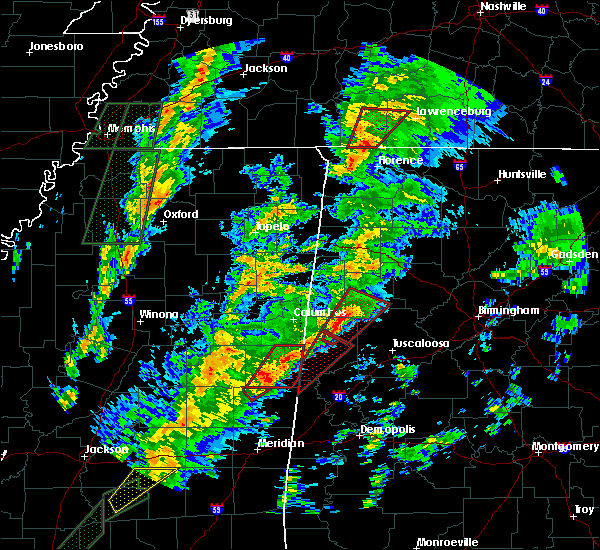 Radar Image for Severe Thunderstorms near Fayette, AL at 2/2/2016 5:30 PM CST