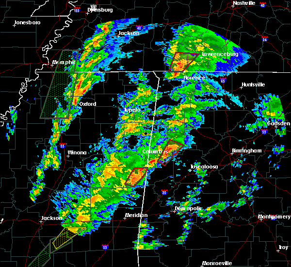 Radar Image for Severe Thunderstorms near Fayette, AL at 2/2/2016 5:40 PM CST