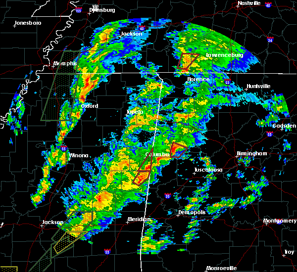 Radar Image for Severe Thunderstorms near Fayette, AL at 2/2/2016 5:48 PM CST