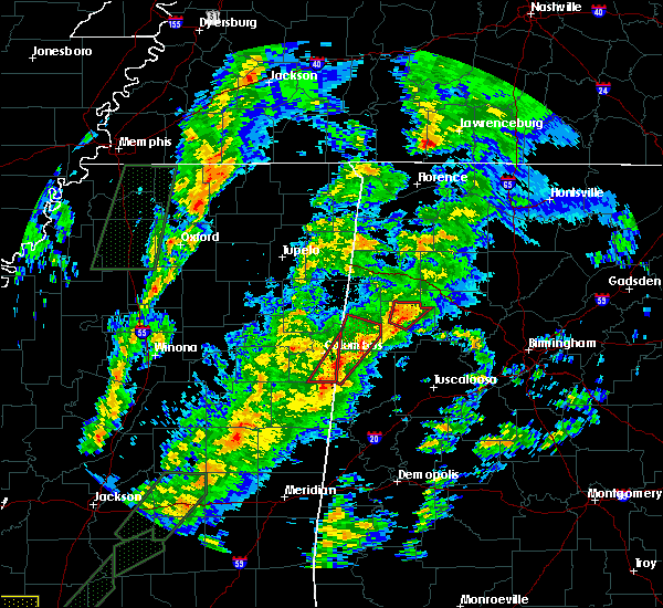 Radar Image for Severe Thunderstorms near Fayette, AL at 2/2/2016 6:04 PM CST
