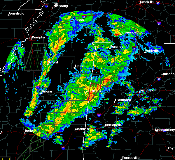 Radar Image for Severe Thunderstorms near Vernon, AL at 2/2/2016 6:10 PM CST