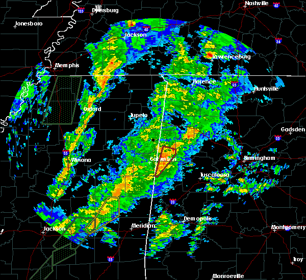 Radar Image for Severe Thunderstorms near Vernon, AL at 2/2/2016 6:19 PM CST