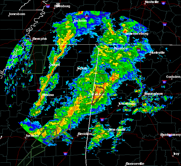Radar Image for Severe Thunderstorms near Vernon, AL at 2/2/2016 6:22 PM CST