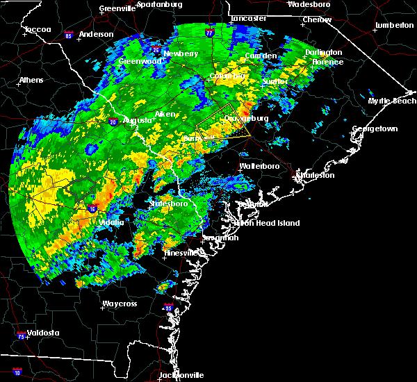 Radar Image for Severe Thunderstorms near Pembroke, GA at 2/3/2016 5:15 PM EST