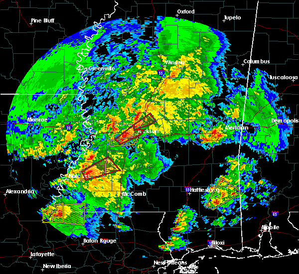 Radar Image for Severe Thunderstorms near Fayette, MS at 2/15/2016 11:13 AM CST