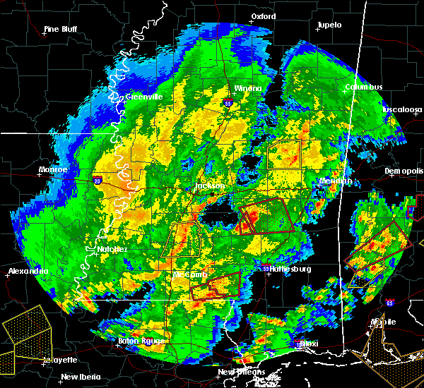 Radar Image for Severe Thunderstorms near Heidelberg, MS at 2/15/2016 1:40 PM CST